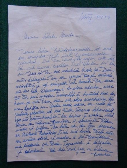 Antique Signed Birthday Letter Princess Viktoria Adelheid Schleswig-Holstein